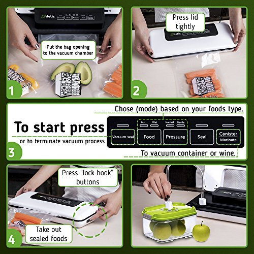Key Features of the Detis Vacuum Sealer plus Starter Kit