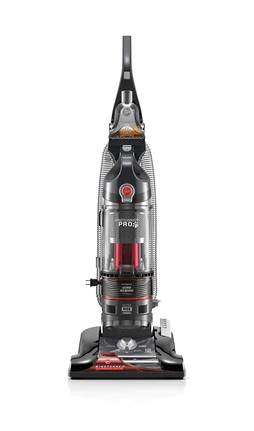 Hoover WindTunnel 3 Pro Pet Bagless Corded Upright Vacuum UH70931PC, Metallic