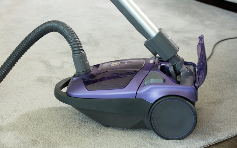 canister vacuum cleaner purple