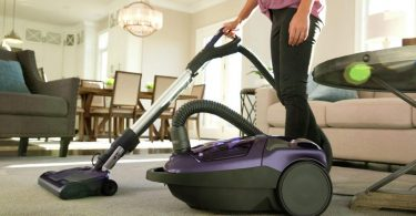 using vacuum cleaner